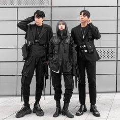 Fashion Week is now a graduate of Grunge Outfits Fashion graduate TECHWEAR Week Edgy Outfits, Grunge Outfits, Mode Outfits, Korean Outfits, Fashion Outfits, Frock Fashion, Fashion Fashion, Tokyo Fashion, Kpop Outfits