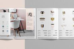 Wynwood Catalog by Studio Standard on Creative Market Brochure Layout, Brochure Template, Flyer Template, Web Design, Layout Design, Portfolio Design, Grafic Design, Promo Flyer, Catalogue Layout