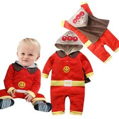 2015 Newborn Babies Bodysuits Rompers Boys Winter Superman Design Cotton Clothing Cartoons Print Long Sleeve Funny Warm Clothing Online with $10.94/Piece on Smartmart's Store | DHgate.com