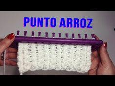 PUNTO ARROZ TELAR RECTANGULAR// Tutorial completo con inicio y remate del tejido - YouTube