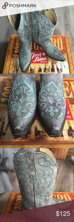✨HP✨Tony Lama Saratoga Cowboy Boots Shoes Heels Awesome boots from Tony Lama. Sz 6.5B small scuffs on toes, otherwise excellent condition. Love the leather cut outs!! Tony Lama Shoes Heeled Boots