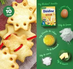 Biscuits bébé à la blédine Baby Cooking, Baby Food Recipes, Food Baby, Baby Shark, 1 An, Desserts, Valentino, Lisa, Thermomix