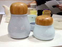 Kitchen storage jars by the Danish design group Kahler.