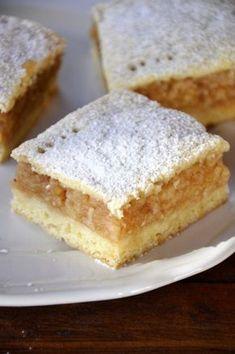 almas pite recept sutemeny suti edesseg nagymama Hungarian Desserts, Hungarian Cuisine, Hungarian Recipes, Homemade Sweets, Homemade Cakes, Cookie Recipes, Dessert Recipes, Sweet And Salty, Biscuits
