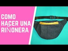 Como hacer una Riñonera FOTOS + VÍDEO Fanny Pack Pattern, Sewing Paterns, Costura Diy, Leather Flowers, Small Bags, Becca, Leather Bag, Diy And Crafts, Handmade