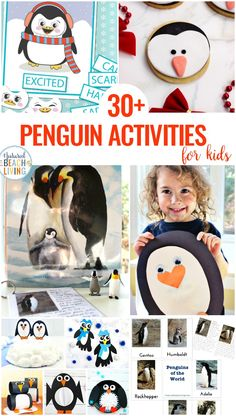 Penguin Activities for Kids - Winter Theme Ideas, Crafts and Activities - Natural Beach Living Preschool Themes, Preschool Activities, Preschool Kindergarten, Montessori Preschool, Preschool Spanish, Winter Activities For Kids, Winter Crafts For Kids, Penguin Awareness Day, Winter Thema