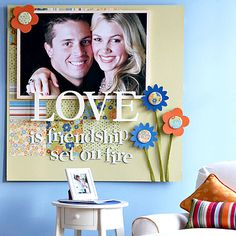 Giant scrapbook page wall art.