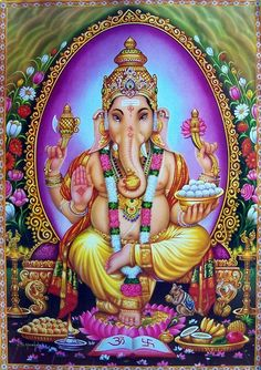 There is no other Hindu symbol more well known then the Ganesha. The Ganesha is a Hindu god straight out of Hindu mythology. The Ganesha is a very popular god with some of the most striking characteristics that many are sure to remember. The Ganesha. Buddhist Symbol Tattoos, Buddhist Symbols, Hindu Tattoos, Ganesha Tattoo, Ganesha Art, Namaste, Chakras, Indiana, Baby Ganesha