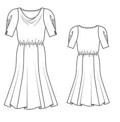 Платье: Burda 4/ 2014/ 118 / Burdastyle