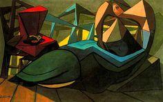 Oyente silencioso, 1943. Cubismo, Surrealismo - Óscar Domínguez