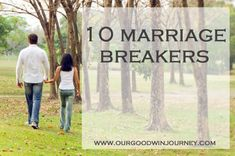 10 Marriage Breakers: are you doing any of these things? #marriage #happywivesclub #ihsnet