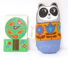 70's Panda Cuddle Toy