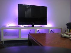 IKEA's LACK + Dioder = Great Home Entertainment Center