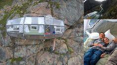 Fantastyczny nocleg w przeźroczystych domkach zawieszonych 120 m nad ziemią