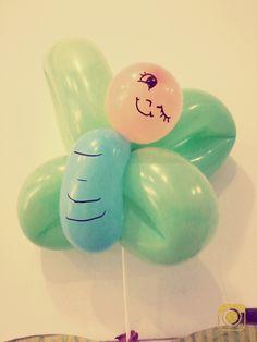 Mariposa  hecha de globos
