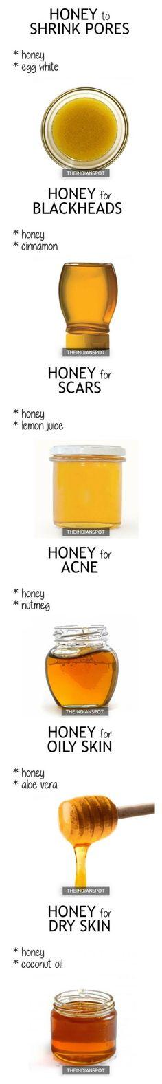 10 Simple Honey Face Masks for every skin problems - Schönheit Homemade Skin Care, Diy Skin Care, Homemade Beauty, Organic Skin Care, Natural Skin Care, Beauty Care, Beauty Hacks, Beauty Advice, Honey For Acne