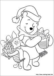 winnie the pooh and friends coloring pages christmas - Google Search