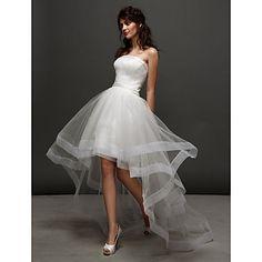 robe asymétrique en tulle de mariage robe de bal bustier (2448983) - EUR € 118.17