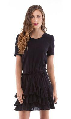 Short Sleeve Ruffle Mini | Cynthia Vincent