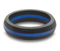 Women's Thin Blue Line Silicone Ring from QALO