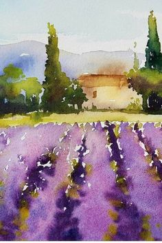 Our upcoming trip in 2018 with artist Kathy Karas to paint in watercolour in Amsterdam, Paris and Provence. # WATER PHOTO Our upcoming trip in 2018 with artist Kathy Karas to paint in watercolour in Amsterdam, Paris and Provence. Watercolor Paintings For Beginners, Watercolor Pictures, Watercolor Landscape Paintings, Easy Watercolor, Watercolor Techniques, Landscape Art, Watercolor Flowers, Watercolor Landscape Tutorial, Paradise Landscape