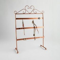 This copper earring display stand has 3 different levels and it is suitable for both stud and longer drop earrings. Ideal for counter standing displays. Copper Earrings, Drop Earrings, Jewellery Displays, Earring Display Stands, Centre, Jewelry, Jewlery, Jewerly, Schmuck
