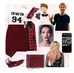 """""""What a perfect day, ash."""" by chechylmiliani on Polyvore featuring Loeffler Randall, Topshop, Valentino, date, 5sos, ashton and Irwin"""