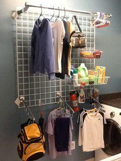 organized laundry room!!!