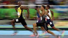 RIO DE JANEIRO, BRAZIL - AUGUST 14: Usain Bolt of Jamaica competes in the Men's…