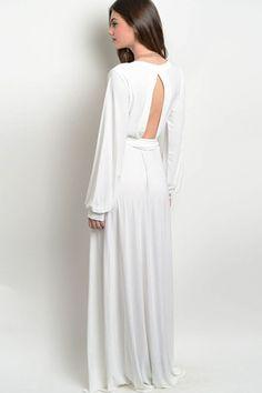 Bridal Shower Dress Ideas -White Wrap Maxi Dress