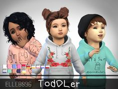 Ever since the Sims 4 toddler update came out, I noticed the lack of variety in the content that came with it. So I made some really cute hoodies that can be worn by both male and female toddlers....