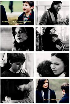 """OUAT. """"No--I'm not a mom."""" Heartbreaking scene. << But can we take a moment to appreciate that Emma wanted Henry to know that Regina was mother-like?"""