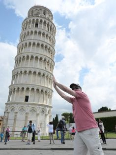 Trying to straighten the leaning tower of Pisa