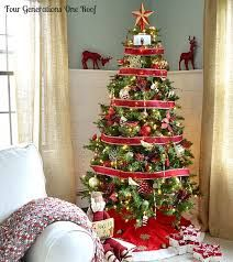 Image result for silver red and gold christmas tree