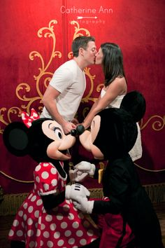 Such a cute picture to get if you did a Disney wedding or honeymoon.