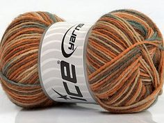 Mini Sock Light Orange Light Blue Camel Cafe Latte  Fiber Content 75% Superwash Wool, 25% Polyamide, Light Orange, Light Blue, Brand Ice Yarns, Camel, Cafe Latte, Yarn Thickness 1 SuperFine  Sock, Fingering, Baby, fnt2-45334 Light Orange, Light Blue, Sock Yarn, Yarns, Latte, Camel, Socks, Ice, Throw Pillows