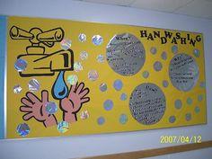 Handwashing bulletin board idea
