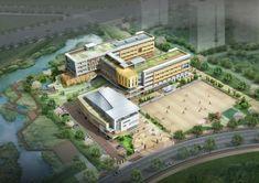 School Building Design, Sports Complex, I School, Colleges, Elementary Schools, Minecraft, Buildings, Rooms, Technology