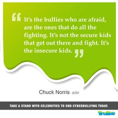 #ChuckNorris Take a stand with celebrities to end #Cyberbullying today!