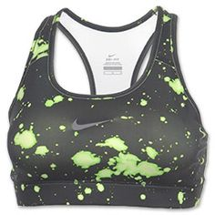 The Nike Pro Compression Printed Women's Sports Bra is a must-have piece of workout gear. The modern print is sure to catch your attention but you'll fall in love with the zero distraction fit, Dri-FIT fabric, flat-seam construction, and racerback design. 88% recycled polyester, 12% spandex. #pavelife #healthy