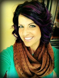 purple highlights for my hair! By my amazing hairstylist Alaina @ Salon De Facto