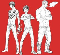 Law, Luffy, Smoker, cool; One Piece
