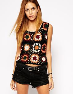This ASOS granny square tank would be a quick make... just sayin'