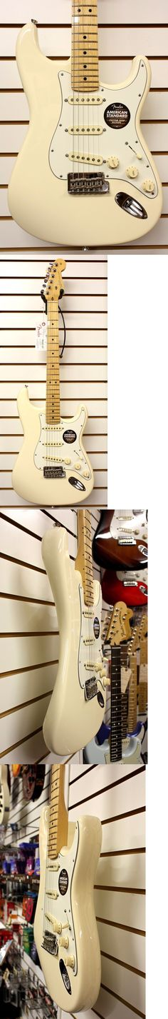 musical instruments: Fender American Standard Stratocaster Electric Guitar Olympic White W/Case New BUY IT NOW ONLY: $1299.0