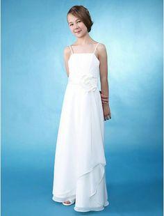 6f155bf883b87 Lovely A-line Princess Spaghetti Straps Floor-length Chiffon Junior Bridesmaid  Dress - Junior. Junior Bridesmaid DressesBridesmaid ...