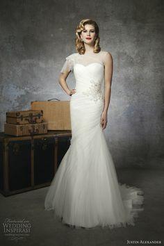 justin alexander bridal spring 2013 wedding dress style 8651 illusion bateau neckline jeweled shoulder flutter cap sleeve