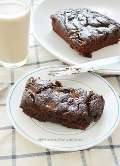 Postres Saludables | Brownie de banano Saludable | http://www.postressaludables.com