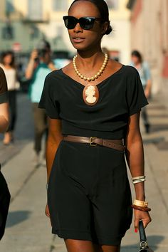 St Lucian style icon Shala Monroque looking as always, refined, ladylike and fabulous. via Cool and Cheap