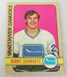 O PEE CHEE 1972-73 BOBBY SCHMAUTZ ROOKIE HOCKEY CARD! CANUCKS / BRUINS EX-NM. #VancouverCanucks