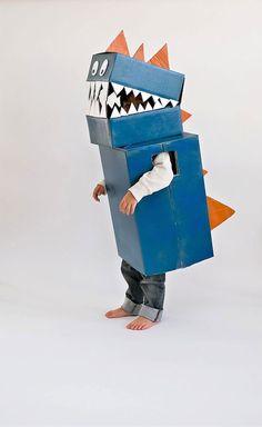 How To: Cardboard Dinosaur Costume